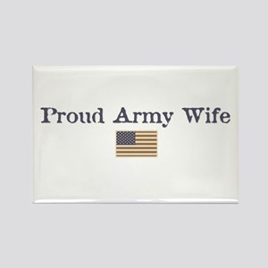Proud Army Wife Rectangle Magnet