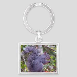 Western Gray Squirrel Landscape Keychain