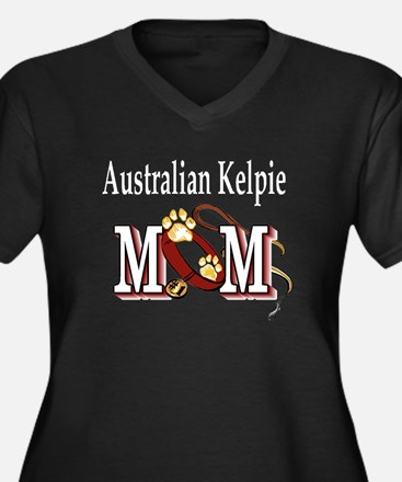 Australian Kelpie Women's Plus Size V-Neck Dark T-