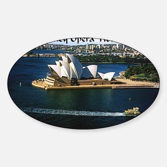 Sydney Opera House  Sticker (Oval)