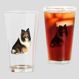 Collie (dark sable) Drinking Glass