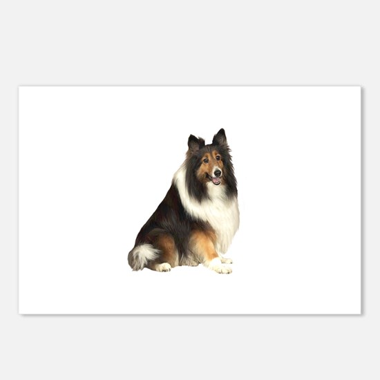 Collie (dark sable) Postcards (Package of 8)
