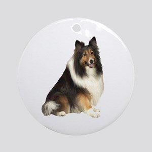 Collie (dark sable) Ornament (Round)