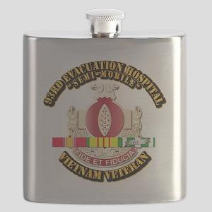 DUI - 93rd Evacuation Hospital w SVC Ribbon Flask