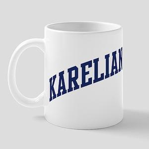 Karelian Bear Dog (blue) Mug