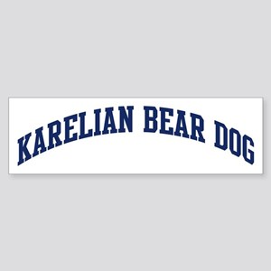 Karelian Bear Dog (blue) Bumper Sticker