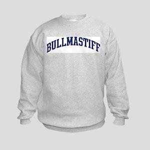 Bullmastiff (blue) Kids Sweatshirt