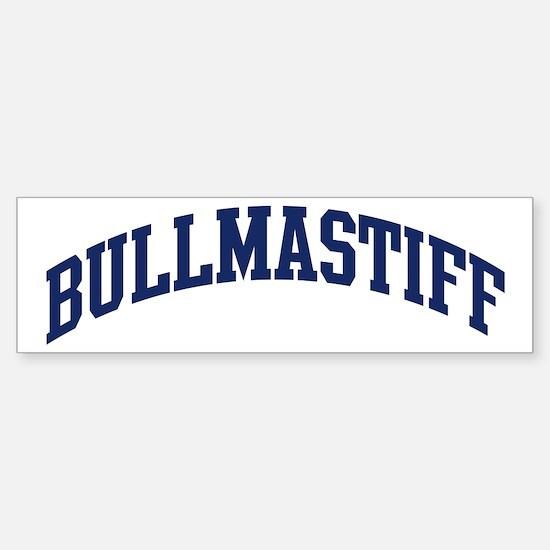 Bullmastiff (blue) Bumper Car Car Sticker