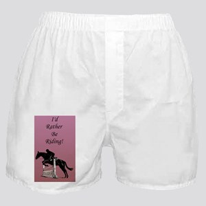 Id Rather Be Riding! Horse Boxer Shorts