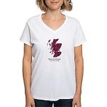 Map-MacCulloch.MacCullough Women's V-Neck T-Shirt