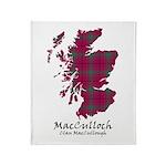 Map-MacCulloch.MacCullough Throw Blanket