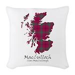 Map-MacCulloch.MacCullough Woven Throw Pillow