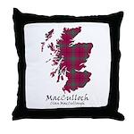 Map-MacCulloch.MacCullough Throw Pillow