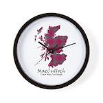 Map-MacCulloch.MacCullough Wall Clock