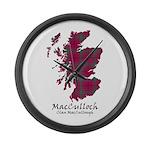 Map-MacCulloch.MacCullough Large Wall Clock