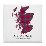 Map-MacCulloch.MacCullough Tile Coaster