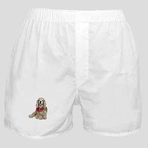 Cocker (buff-w/scarf) Boxer Shorts