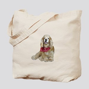 Cocker (buff-w/scarf) Tote Bag