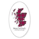 Map-MacCulloch.MacCullough Sticker (Oval)