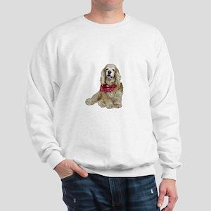 Cocker (buff-w/scarf) Sweatshirt