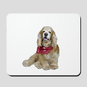 Cocker (buff-w/scarf) Mousepad