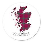 Map-MacCulloch.MacCullough Round Car Magnet