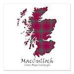 Map-MacCulloch.MacCullou Square Car Magnet 3