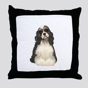 Cocker (parti) Throw Pillow