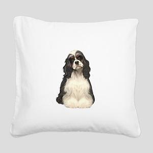 Cocker (parti) Square Canvas Pillow