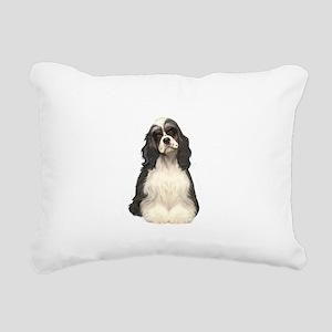 Cocker (parti) Rectangular Canvas Pillow
