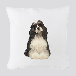 Cocker (parti) Woven Throw Pillow
