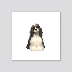 "Cocker (parti) Square Sticker 3"" x 3"""