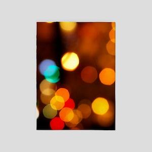 Christmas Lights 5'x7'Area Rug
