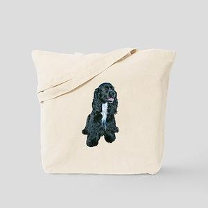 Cocker (black- white bib) Tote Bag