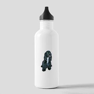 Cocker (black- white bib) Stainless Water Bottle 1