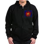 Bodybuilding Beast Mode Zip Hoodie (dark)