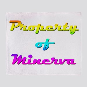 Property Of Minerva Female Throw Blanket