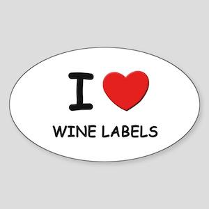 I love wine labels Oval Sticker
