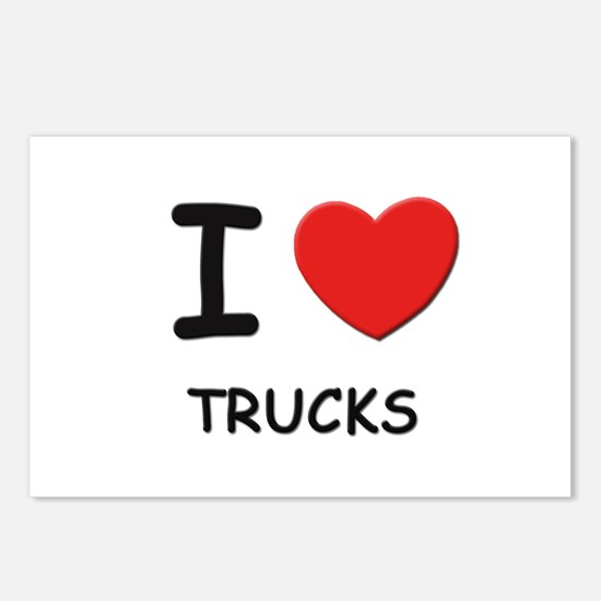 I love trucks  Postcards (Package of 8)
