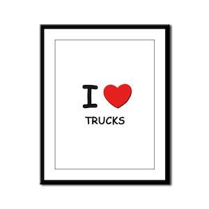I love trucks  Framed Panel Print