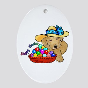 Easter Labrador Retriever Oval Ornament