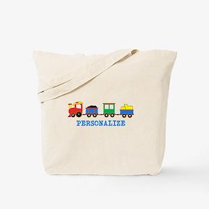 Personalized Kids Choo Choo Train Tote Bag