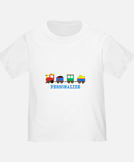 Personalized Kids Choo Choo Train T-Shirt