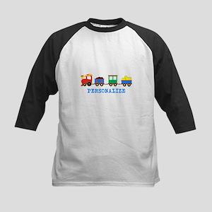 Personalized Kids Choo Choo Train Baseball Jersey