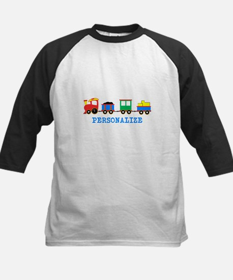 Personalized Kids Choo Choo Train Baseball Jersey