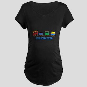 Personalized Kids Choo Choo Train Maternity T-Shir