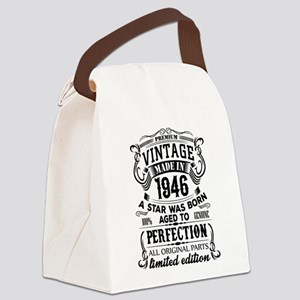 Vintage 1946 Canvas Lunch Bag