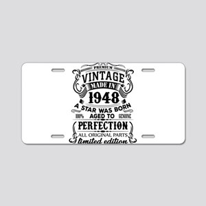 Vintage 1948 Aluminum License Plate