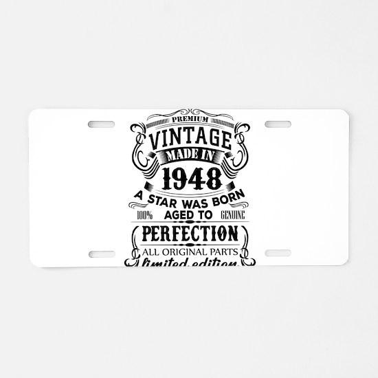 Vintage 1948 Aluminum License Plate