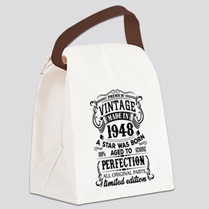 Vintage 1948 Canvas Lunch Bag